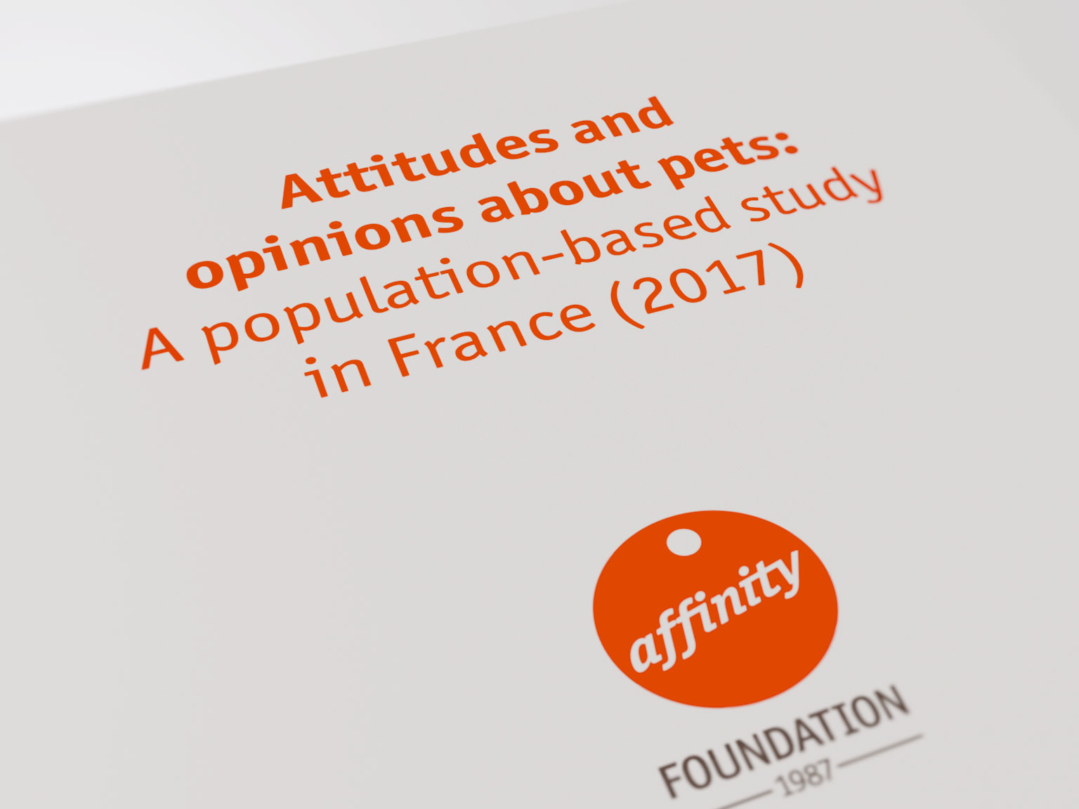 Attitudes and opinions about pets: A population-based study in France (2017)